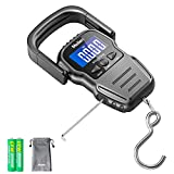 Fish Scale, 110lb/50kg Luggage Scale with Backlit LCD Display, Digital Fishing Scale with Measuring...