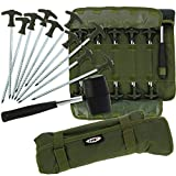 DNA Leisure NGT Carp Coarse Fishing Bivvy 10x 8 Tent Umbrella Camping Guy Rope Pegs Mallet Set Roll