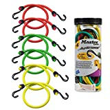Master Lock 6-Pack Bungee Cords [2 x 60cm, 2 x 80cm And 2 x 100cm] - 3040Eurdat - For Camping, Loads...