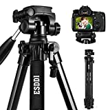Camera Tripod ESDDI 70inches Compact Lightweight Aluminum Tripod with Phone Clip and Carry Bag for...