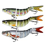 Forehakms Fishing Lures Bass Lures Multi Jointed Hard Treble Fishing Hooks Artificial Bait Segment...