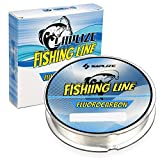 SAPLIZE Fluorocarbon Coated Fishing Line, Super Abrasion Resistance Low Stretch Easy Casting Fishing...