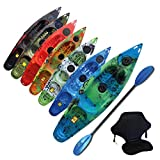 Riber One Person Sit on Top Kayak Starter Pack- Ideal for Beginners - Multiple Colours (Green, Blue...
